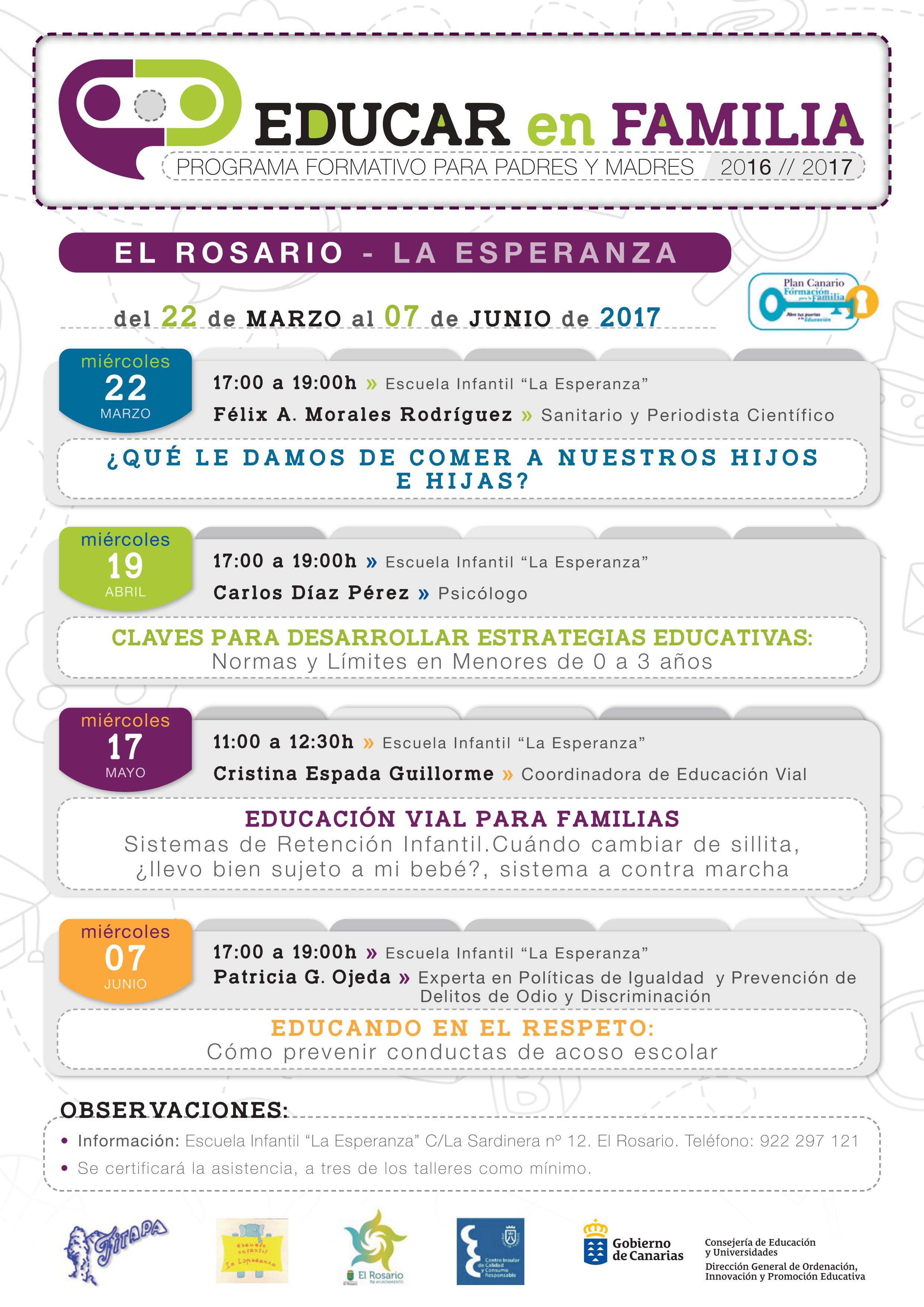 Educar en Familia 16-17. El Rosario. La Esperanza.