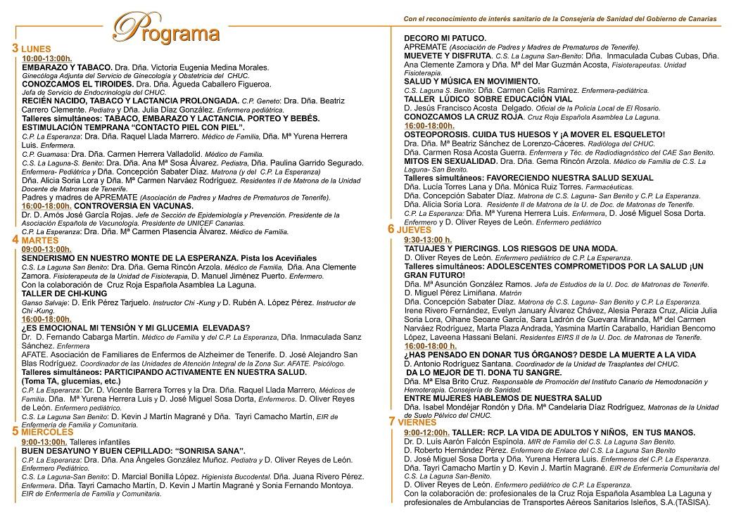 Programa VI Jornadas de la Salud Back - copia