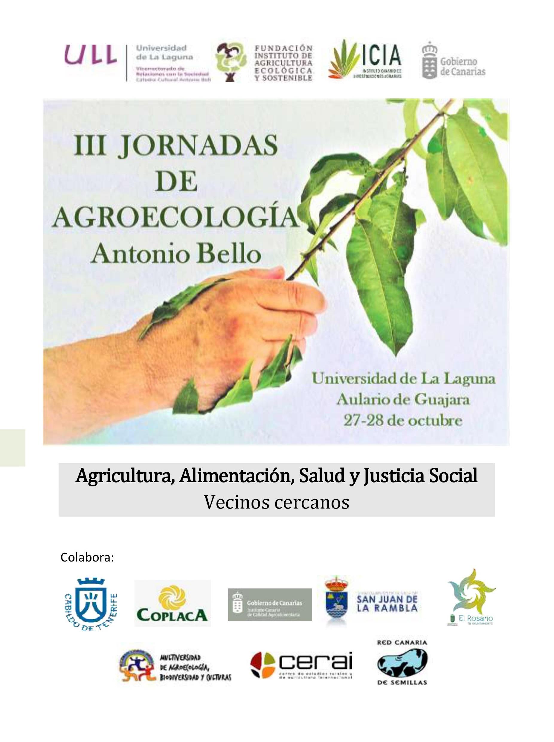 Portada III Jornadas Agroecología