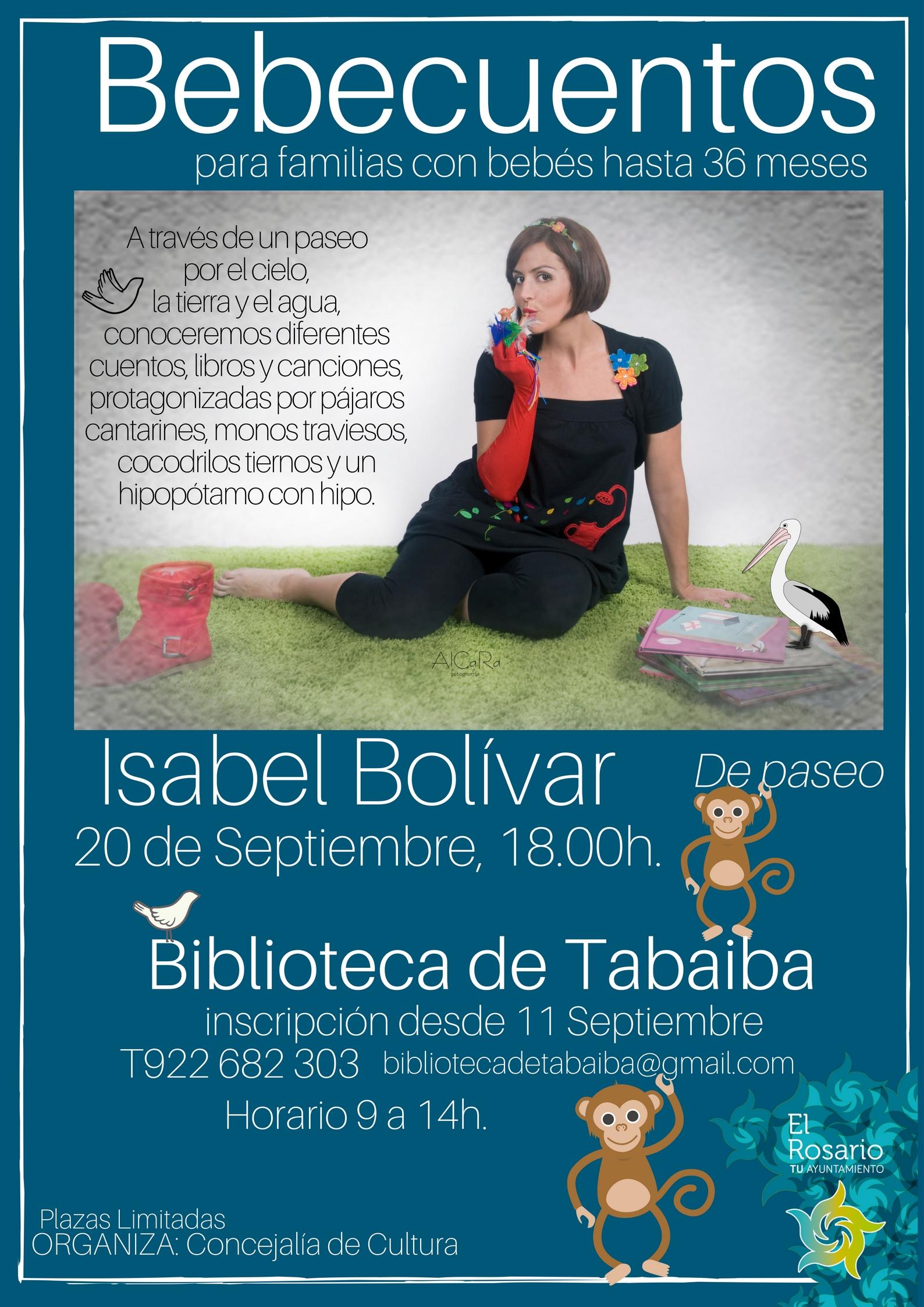 cartel bebecuentos Isabel Bolivar