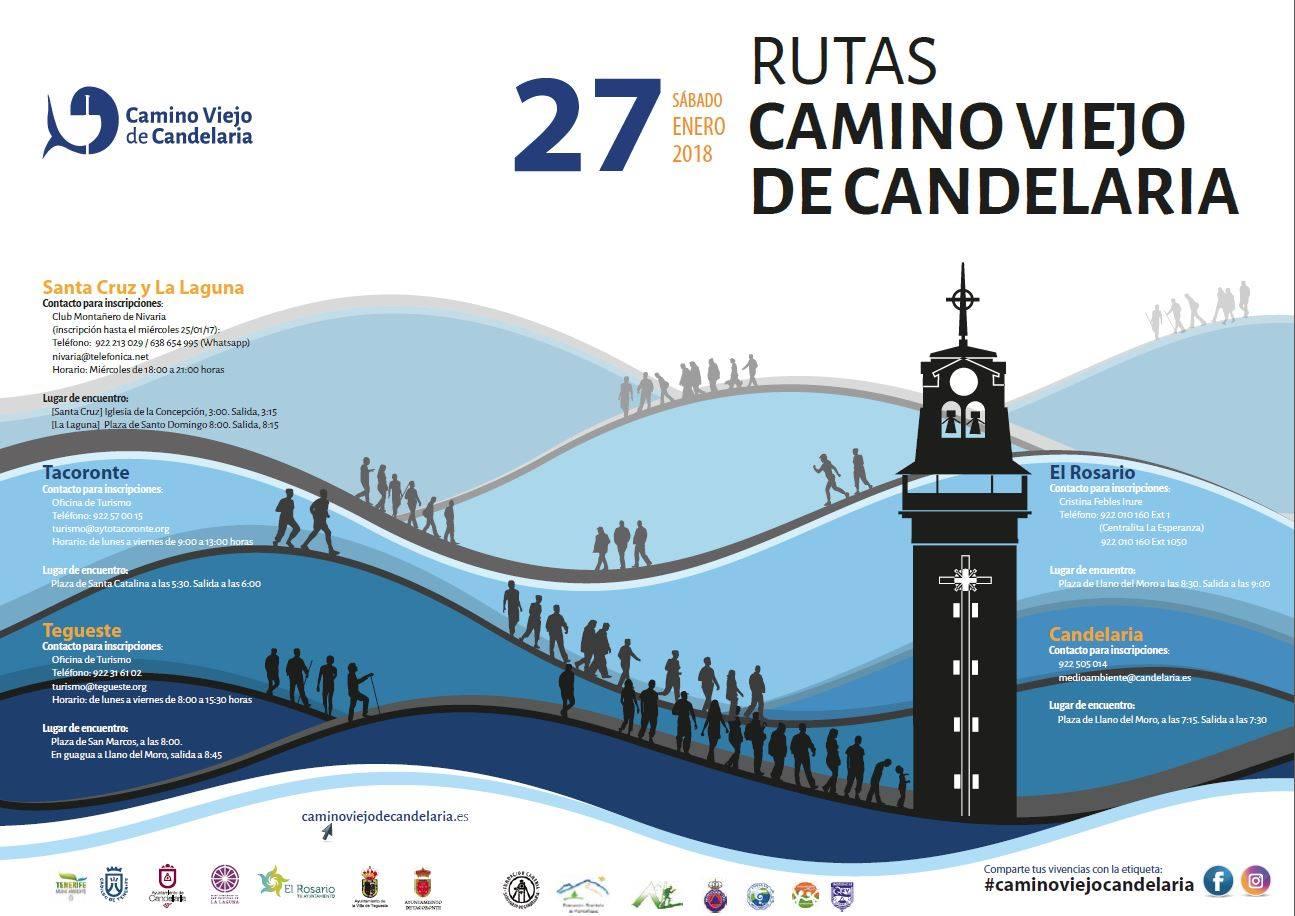 Cartel Ruta Guiada Candelaria 2018