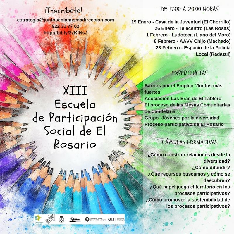 Copia de XIII Escuela de Participación Social de El Rosario