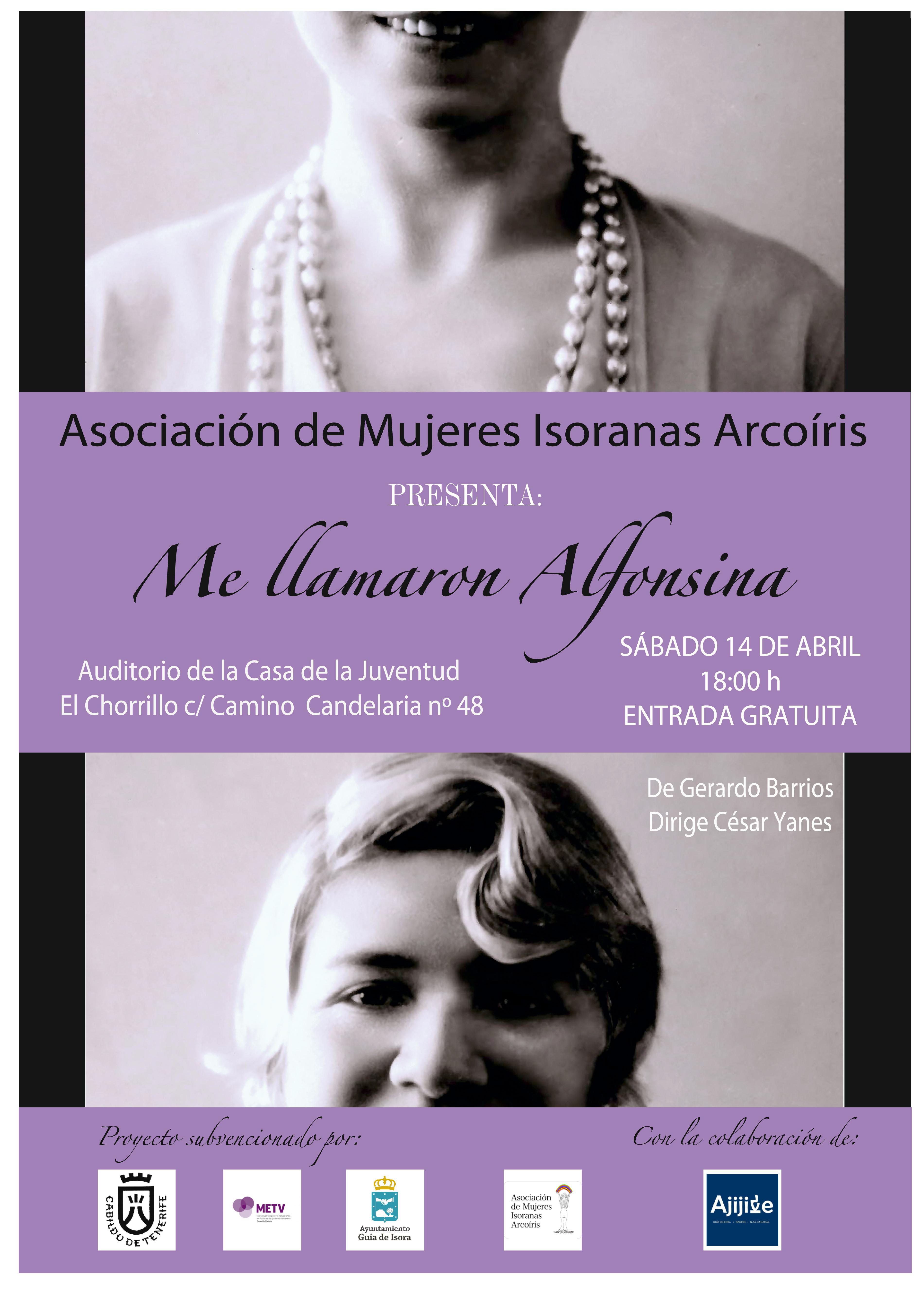 Cartel Teatro-Me llamaron Alfonsina_ElRosario