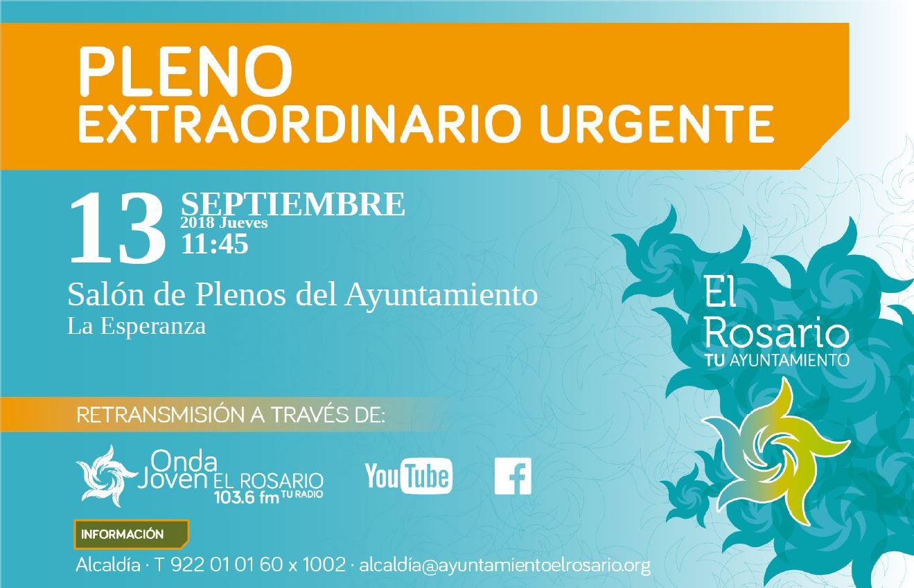 Banner convocatoria pleno extraordinario 13-09-18