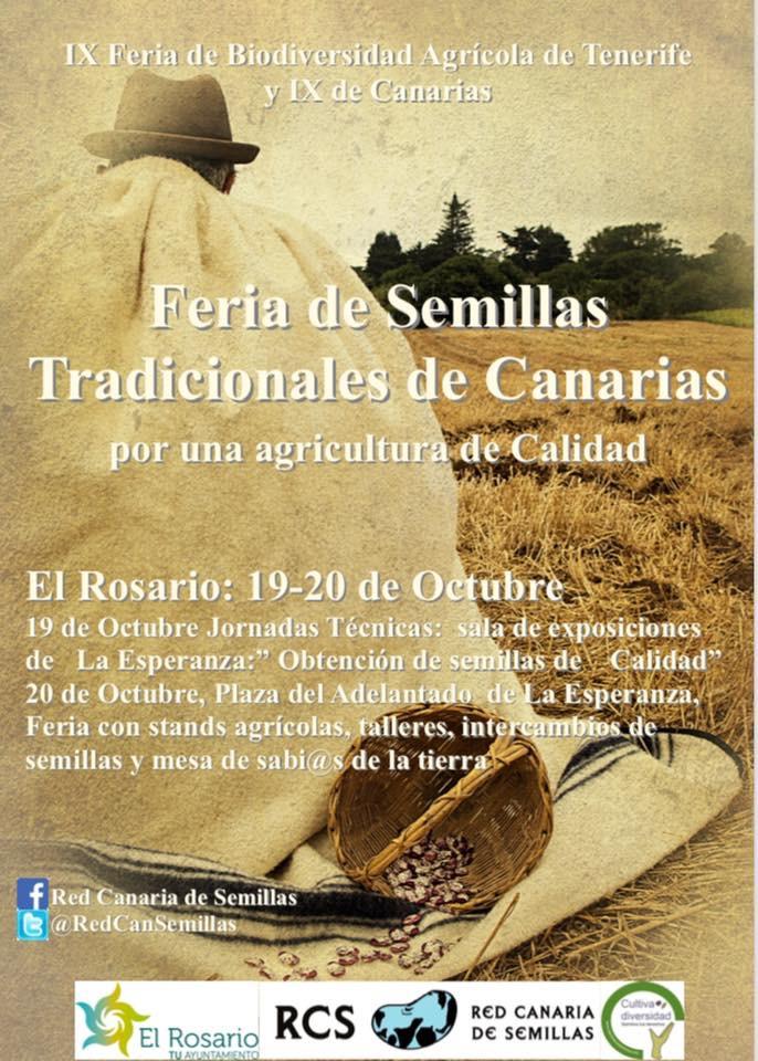 Cartel Feria de Semillas Tradicionales de Canarias