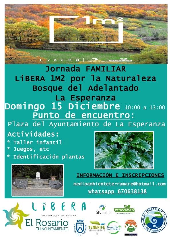 Cartel Erradicacion Flora Bosque del Adelantado