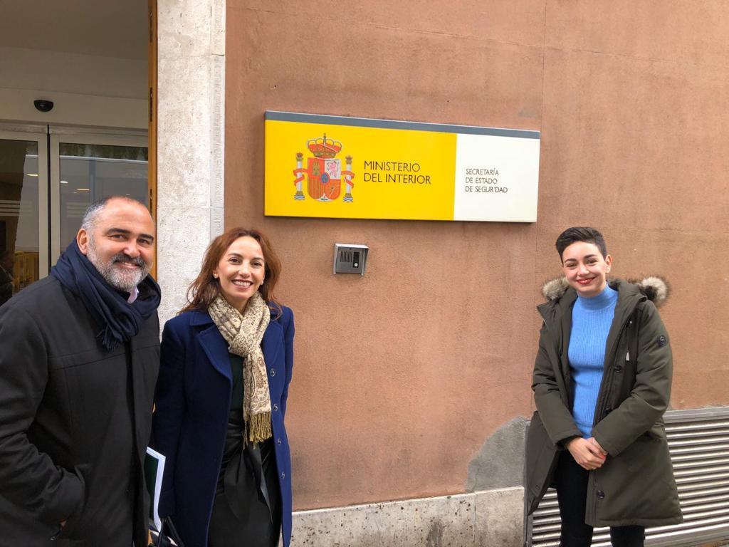 Visita al Ministerio del Interior con la senadora Olivia Delgado