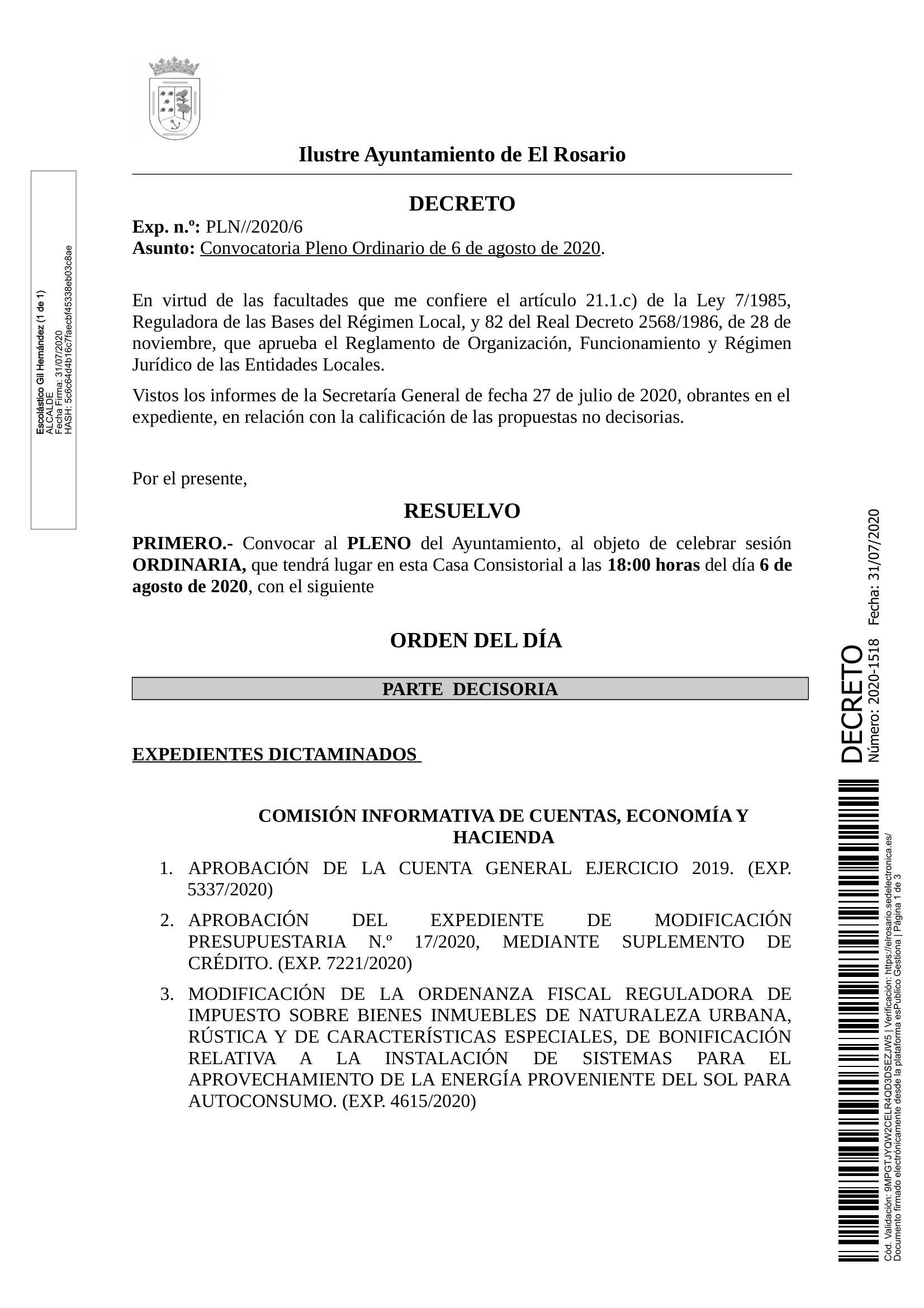 20200731_DECRETO 2020-1518 [Decreto Convocatoria Pleno Ordinario de 6 de agosto de 2020]_0001